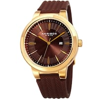 Akribos XXIV Men's Quartz Soft Silicone Strap Watch