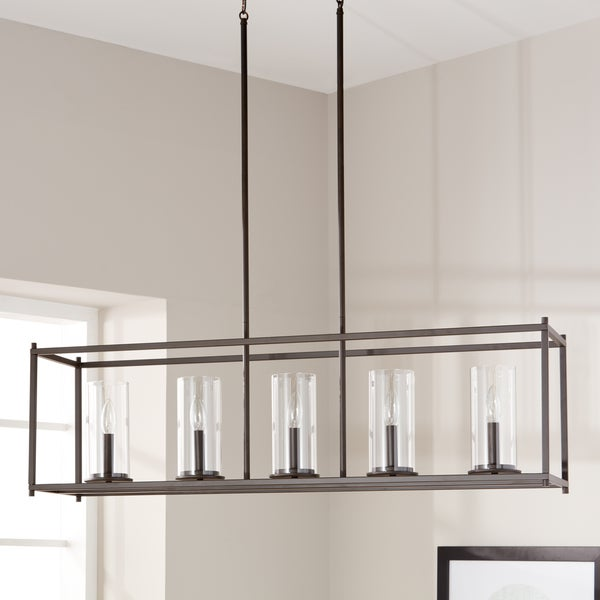 Kichler lighting crosby collection olde bronze steel 5 light linear kichler lighting crosby collection olde bronze steel 5 light linear chandelier with clear glass cylindrical aloadofball Choice Image
