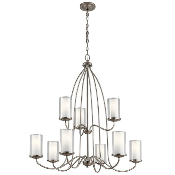 Kichler Lighting Lorin Collection Classic Pewter Steel 9-light Chandelier with Clear Glass Shades