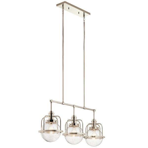 Kichler Lighting Triocent Collection 3-light Polished Nickel Linear Chandelier