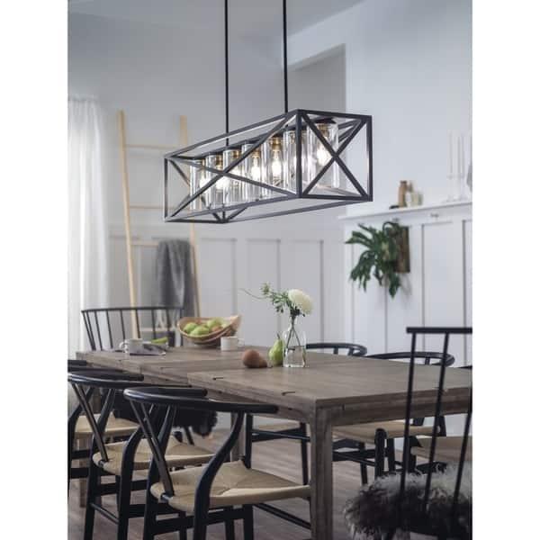 Kichler Lighting Moorgate Collection 5 Light Black Linear Chandelier