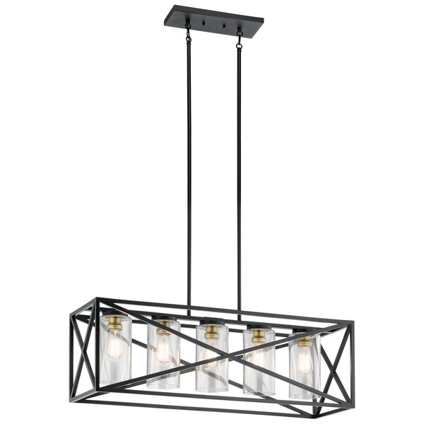 Kichler Lighting Moorgate Collection 5-light Black Linear Chandelier