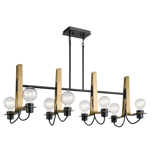 Kichler Lighting Arvela Collection 8-light Black Linear Chandelier