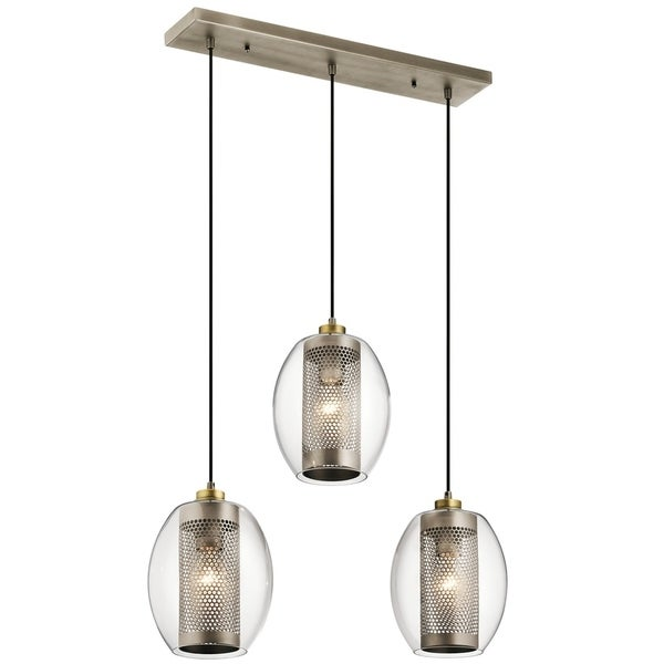 Kichner Lighting: Shop Kichler Lighting Asher Collection 3-light Antique