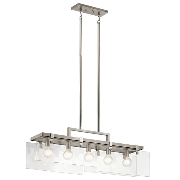 Kichler Lighting Tiers Collection 5 Light Classic Pewter Linear Chandelier