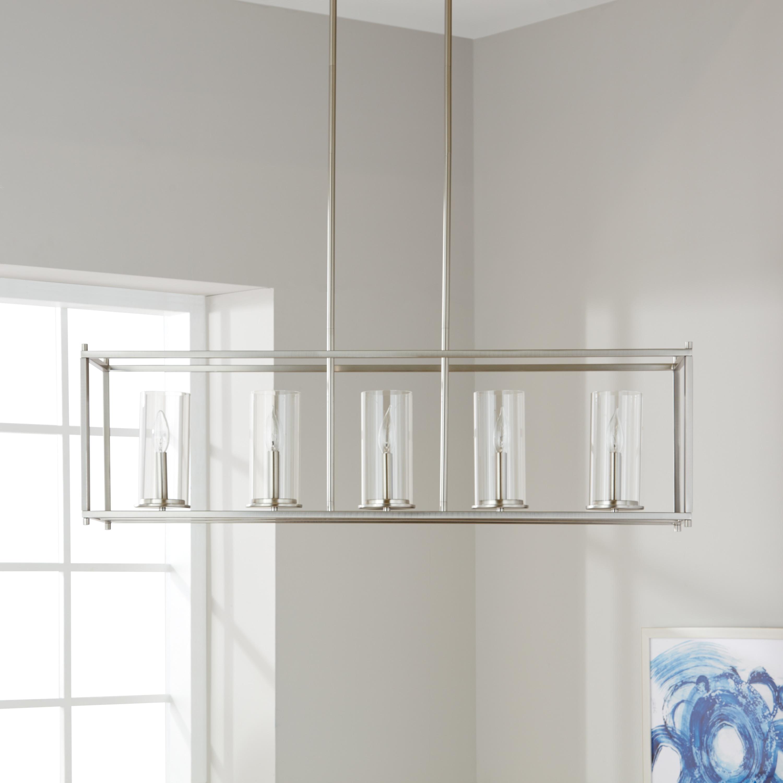 Clay Alder Home 5-light Brushed Nickel Linear Chandelier