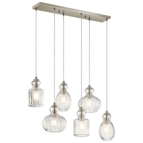 Kichler Lighting Riviera Collection 6-light Brushed Nickel Linear Chandelier