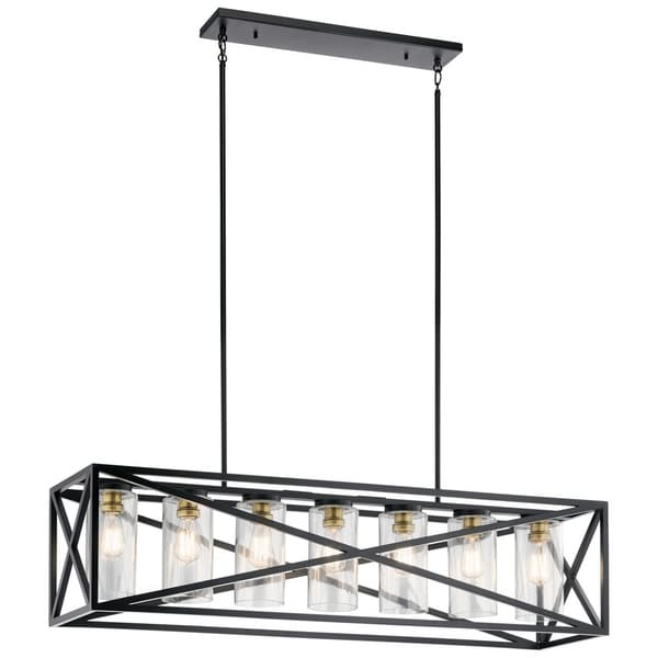 Kichler Lighting Moorgate Collection 7-light Black Linear Chandelier