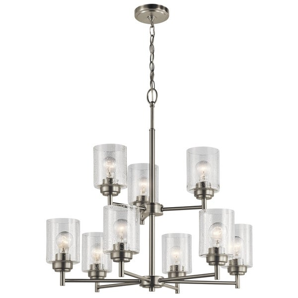 Kichler Lighting Winslow Collection 9-light Brushed Nickel Chandelier