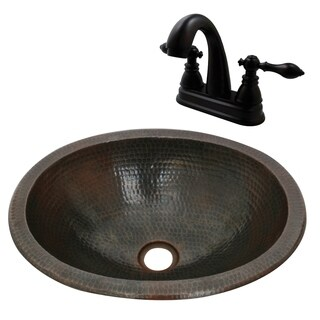 Unikwities 16X12X5 Copper Sink with Complimentary Faucet and Drain