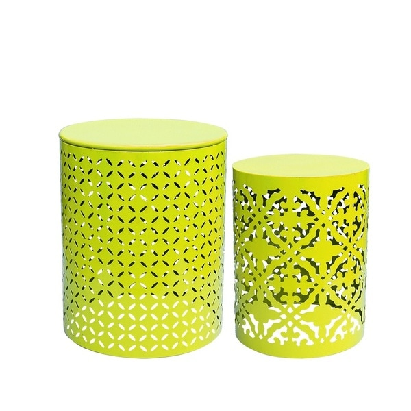 Lime Green 2 Pcs End Table Set On Free Shipping Today 19568493
