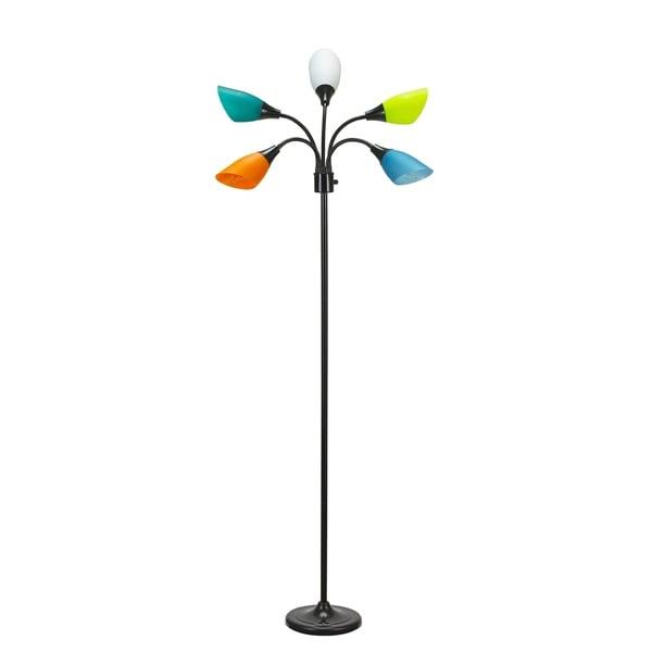 Catalina Lighting 20744-001 Medusa 5 Light Adjustable Head Floor Lamp