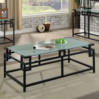 Furniture of America Ichi Contemporary Black Metal Coffee Table