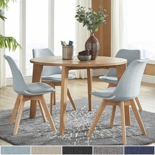 Arlo Round Light Oak 5 Piece Dining Set By INSPIRE Q Modern