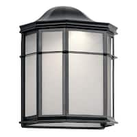 Kichler Lighting Kent Collection 1-light Black LED Outdoor Wall Sconce