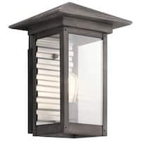 Kichler Lighting Wayland Collection 1-light Weathered Zinc Outdoor Wall Lantern