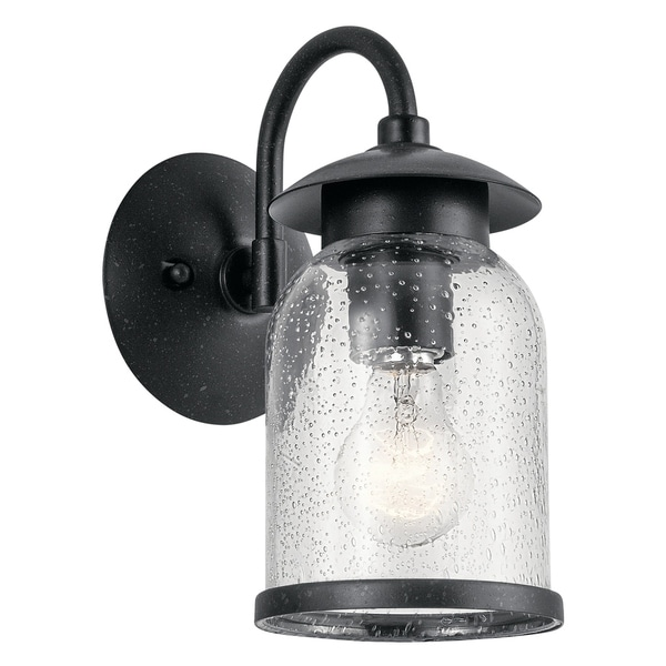Kichler Lighting Hugo Collection 1 Light Distressed Black Outdoor Wall Sconce On Free Shipping Today 19569417
