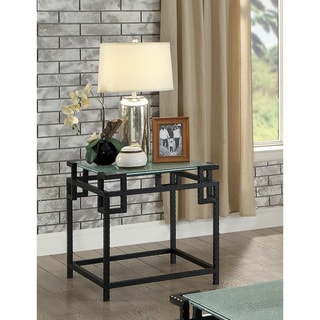 Furniture of America Ichi Contemporary Black Metal End Table