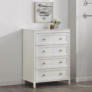 Little Seeds Piper 4 Drawer Dresser (Option: Off White)