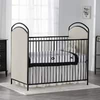 Little Seeds Rowan Valley Black Lotus Upholstered Metal Crib