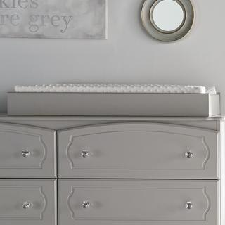 Little Seeds Rowan Valley Grey Laren Changing Table Topper