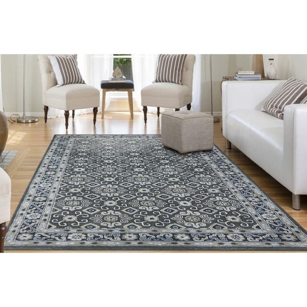 Norseth Lily Hand Tufted Wool Blend Floral Area Rug Overstock 19569758