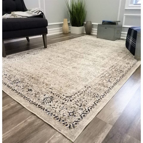 Cambridge CreamVintage Distressed Oriental Area Rug
