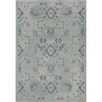 "Beverly Vintage Distressed Bohemian Light Blue Area Rug - 7'10"" x 9'10"""