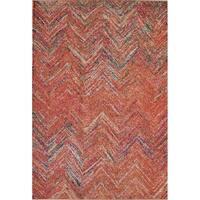 "Beverly Modern Vintage Rust Area Rug - 7'10"" x 9'10"""