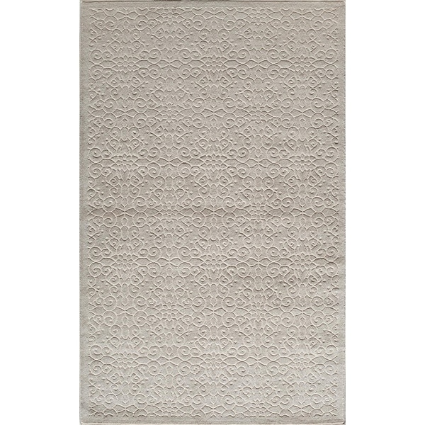Riviera Traditional Scroll Cream Area Rug - 8' x 10'