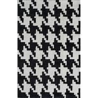 Jourdan Modern Houndstooth OnyxArea Rug - 8' x 10'