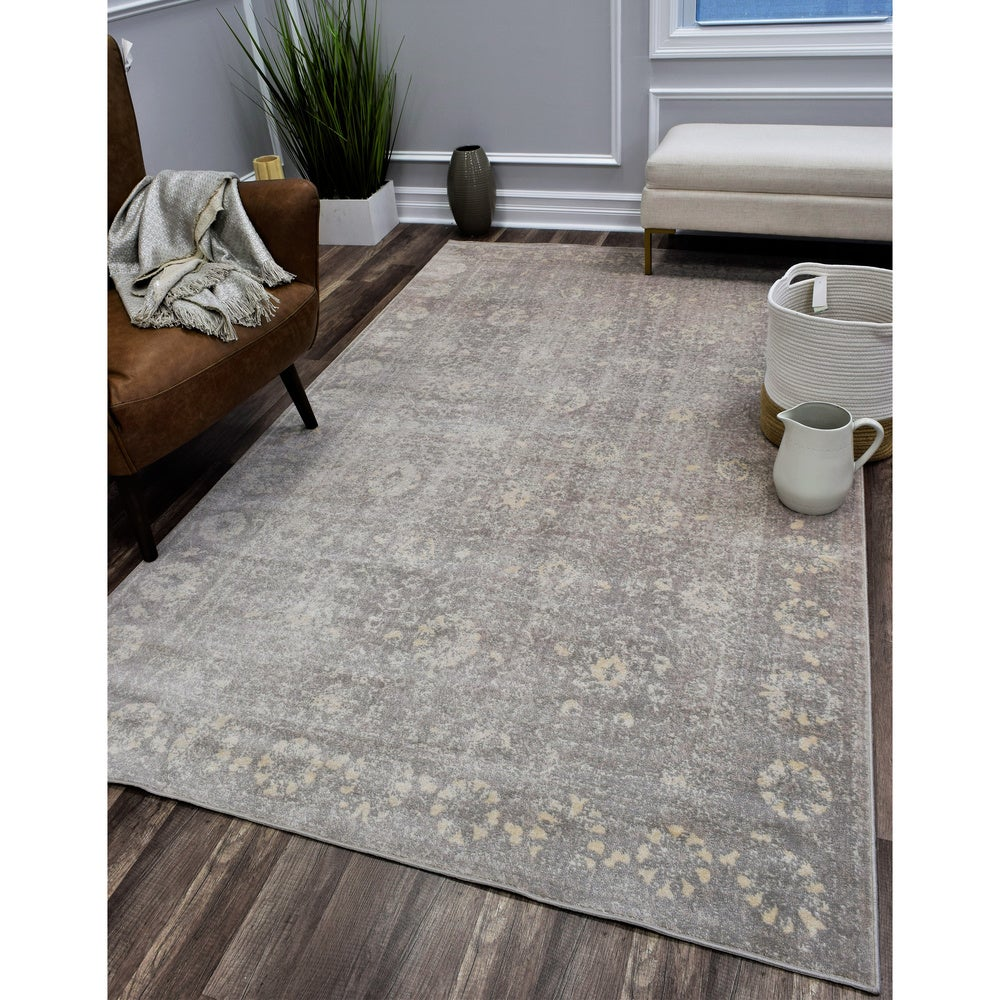 Cosmolivingwilshire Distressed Vintage Oriental Gray Area Rug 8 X 10 8 X 10 Grey Dailymail