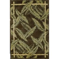 Rugs America Tropical Sunset Bay Green/Brown Area Rug - 7'10 x 10'10