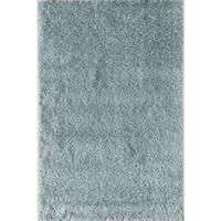 Rugs America Miami Powder Blue Shag Area Rug - 7'10 x 10'10