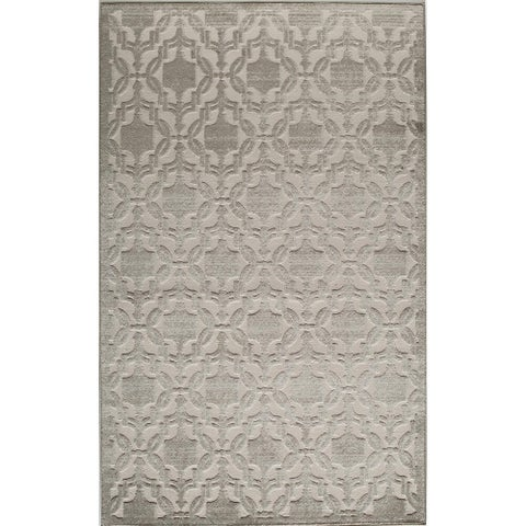 Riviera Traditional Medallion Cream Area Rug - 8' x 10'