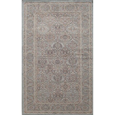Riviera Vintage Traditional Oriental Light Blue Area Rug - 8' x 10'