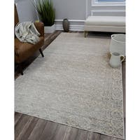Wilshire Vintage Distressed Bohemian Ivory Gray Area Rug - 8' x 10'