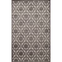 Riviera Traditional Medallion Charcoal Area Rug - 8' x 10'