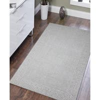 Klein Silver Sand Blended New Zealand Wool Hand-tufted Area Rug - 8' x 11'