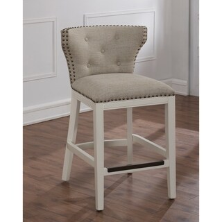 Castella White and Beige Counter Stool by Greyson Living