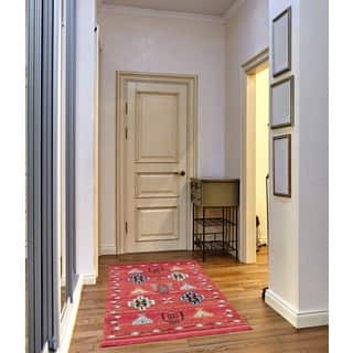 Rudy Frieze Collection Red runner rug (3' ...