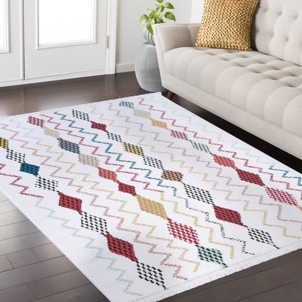 Rene Frieze Collection White area rug - 7'10 x 10'2