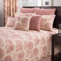 Provence red toile comforter set