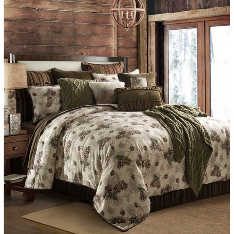 Forest Pine Comforter Set, Queen - Multi
