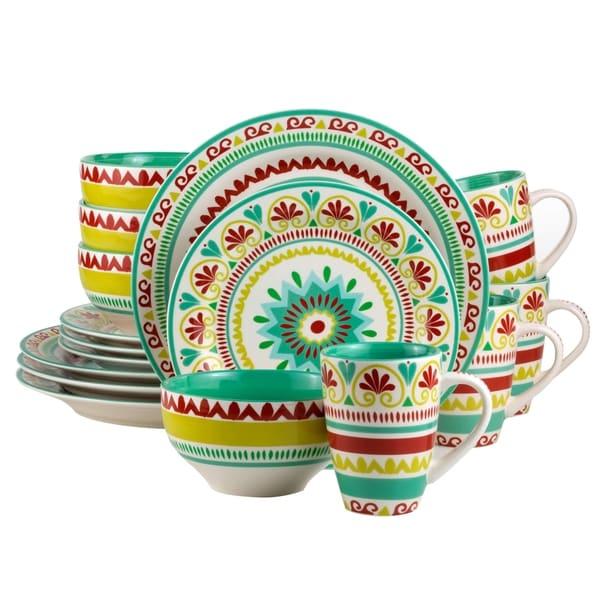 Euro Ceramica Alecante 16-piece Dinnerware Set Service for 4  sc 1 st  Overstock & Euro Ceramica Alecante 16-piece Dinnerware Set Service for 4 - Free ...