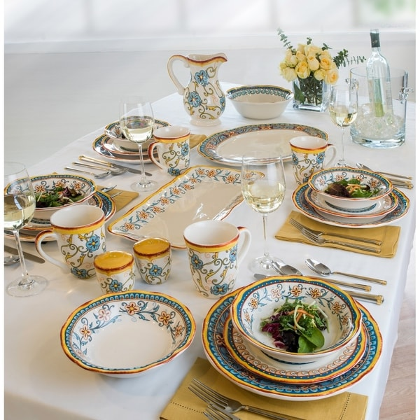 Duomo 16 Piece Dinnerware Set Service for 4 by Euro Ceramica