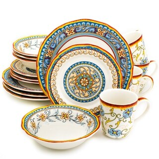 Euro Ceramica Duomo 16-piece Dinnerware Set, Service for 4