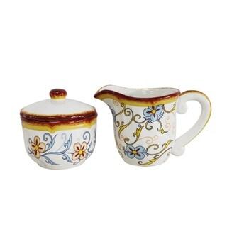 Euro Ceramica Duomo 2-piece Creamer & Sugar Bowl Set