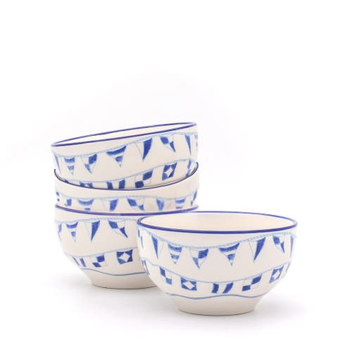 Euro Ceramica AhoyAssorted Cereal Bowls (Set of 4)