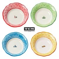 Euro Ceramica An American In Paris Assorted Soup Bowls (Set of 4)